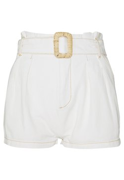 Missguided Petite - RAFFIA BUCKLE - Shorts - white