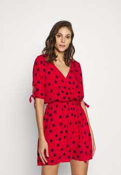 Women Secret - SHORT SLEEVES SHORT DRESS - Accessoire de plage - red