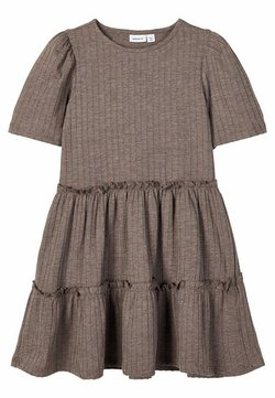 Name it - Freizeitkleid - deep taupe