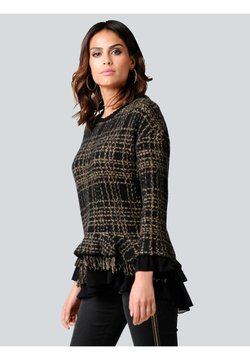Alba Moda - Sweatshirt - schwarz,camel