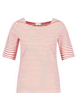 Gerry Weber - 1/2 ARM - T-Shirt print - ecru/weiss/rot/orange ringel