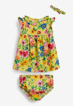 Next - 3 SET FLORAL - Shorts - yellow