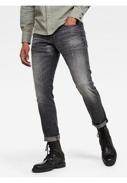 G-Star - 3301 STRAIGHT TAPERED - Jeans Tapered Fit - faded basalt