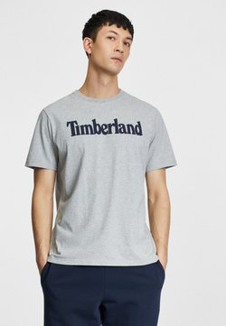 Timberland - KENNEBEC RIVER LINEAR TEE - T-Shirt print - medium grey heather