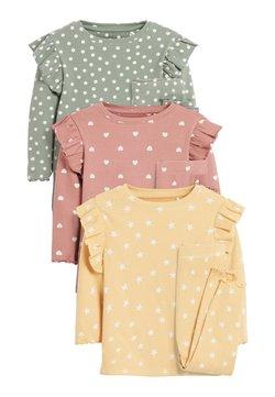 Next - 3 PACK SPOT/STAR/HEART RIB RUFFLE - Pyjamas - pink