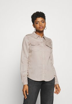 Vila - VIBISTA  - Button-down blouse - simply taupe