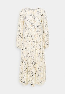 TOM TAILOR DENIM - PRINTED MIDI DRESS - Vestido camisero - creme