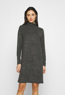Pieces - PCPAM HIGH NECK DRESS - Neulemekko - dark grey melange