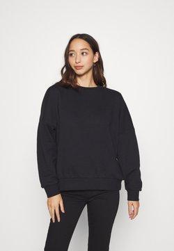 Even&Odd - OVERSIZED CREW NECK SWEATSHIRT - Sweatshirt - black
