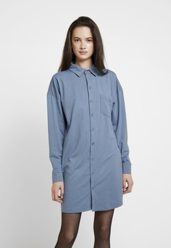 Missguided - DRESS PLAIN - Vestido camisero - blue