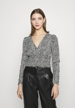 New Look - WAISTPRINTED WRAP LONG - Bluse - black pattern