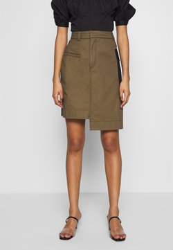 Who What Wear - THE UTILITY SKIRT - Gonna a tubino - army/black