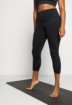 Nike Performance - YOGA RUCHE 7/8 TIGHT PLUS - Pantalón 3/4 de deporte - black/dark smoke grey
