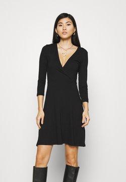 Anna Field - Quarter sleeves wrap mini dress - Vestido ligero - black