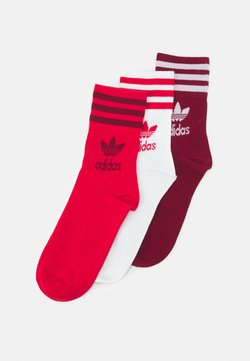 adidas Originals - 3 PACK UNISEX - Socken - scarlet/collegiate burgundy