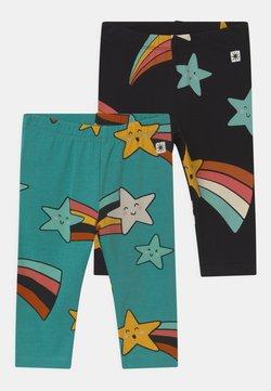 Lindex - STAR PRINT 2 PACK UNISEX - Legging - off black