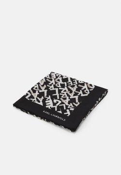 KARL LAGERFELD - GRAFITI SQUARE SCARF - Tuch - black/white