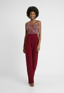 Lace & Beads Tall - PICASSO DEEP V - Combinaison - fiery red