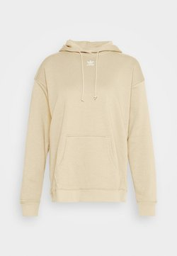 adidas Originals - TREFOIL ESSENTIALS HOODED - Hoodie - linen khaki