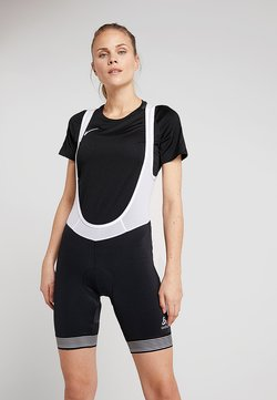 ODLO - SHORT SUSPENDERS FUJIN - Tights - black