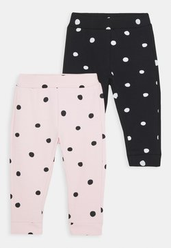 OVS - TROUSERS 2 PACK - Leggings - caviar/pink dogwood