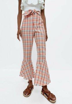Uterqüe - Spodnie materiałowe - orange