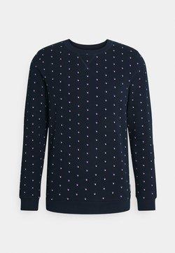 TOM TAILOR DENIM - CREWNECK WITH ALLOVERPRINT - Sweatshirt - navy colored squares print