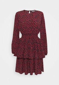 ONLY - ONLTESSA SHORT DRESS  - Freizeitkleid - black/paris ditsy /mars red