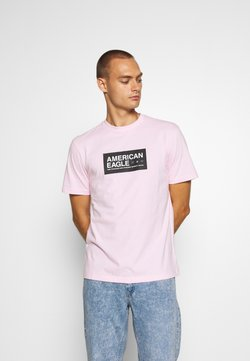American Eagle - UNISEX SET IN TEE CORE BRAND - T-shirt z nadrukiem - light pink