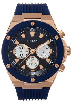 Guess - MENS SPORT MULTIFUNCTION - Montre - blue/rose gold-coloured