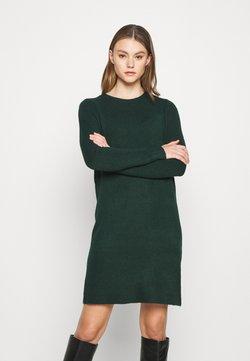 ONLY - ONLELENA DRESS - Gebreide jurk - green gables/black melange