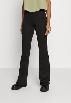 ONLY - ONLFEVER STRETCH FLAIRED PANTS - Stoffhose - black