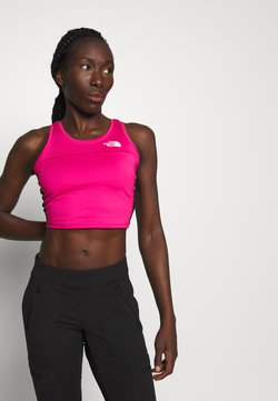 The North Face - WOMENS ACTIVE TRAIL TANKLETTE - Funktionsshirt - pink/black