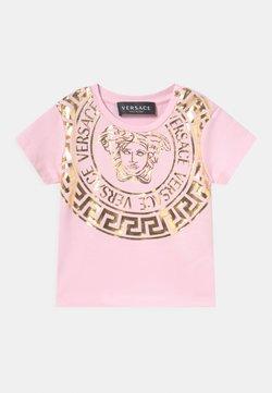 Versace - Camiseta estampada - rosa baby/oro