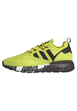 adidas Originals - ZX 2K BOOST UNISEX - Sneaker low - acid yellow/core black/footwear white
