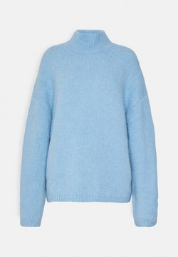 Weekday - AINO - Strikkegenser - light blue