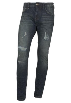 TOM TAILOR DENIM - AEDEN - Jeans Straight Leg - dark stone blue denim