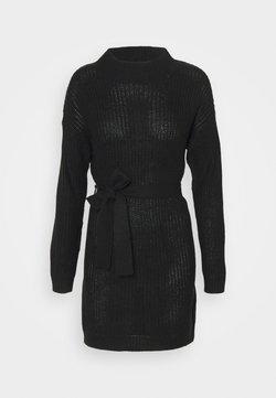 Missguided - HIGH NECK BASIC DRESS WITH BELT - Vestido de punto - black