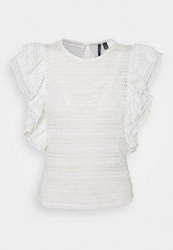 Vero Moda Petite - VMAMANDA - Camiseta básica - snow white