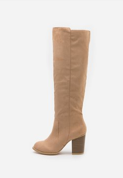 Nly by Nelly - BLOCK KNEE HIGH BOOT - Boots - beige