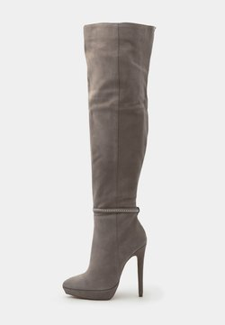 Even&Odd - LEATHER - Bottes à talons hauts - grey