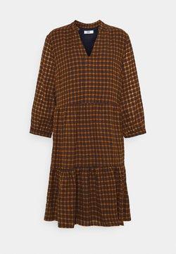 ONLY - ONLFILIA SHORT CHECK DRESS  - Freizeitkleid - mango mojito/yellow/dark grey