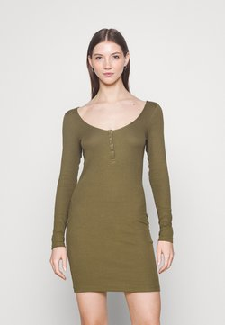 Even&Odd - Vestido de punto - dark green
