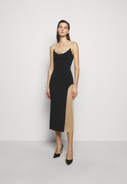 David Koma - Shift dress - black/beige