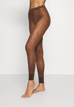 FALKE - FALKE ZEBRA 20 DENIER  LEGGINGS TRANSPARENT FEIN BRAUN - Leggings - Strümpfe - chokolate