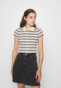 BDG Urban Outfitters - STRIPED COLLARED - Camisa - black/beige