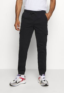 Champion - ROCHESTER ELASTIC CUFF PANTS - Trousers - black