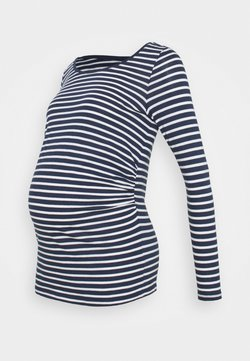 New Look Maternity - STRIPE - Camiseta de manga larga - blue