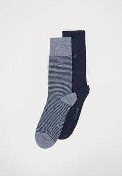 Calvin Klein Underwear - MEN CREW FINE STRIPED 2 PACK - Socken - denim combo