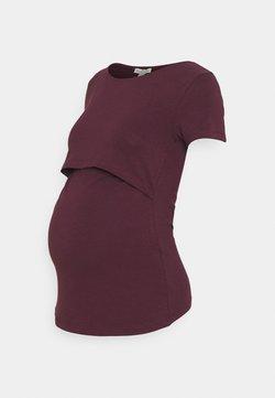 Anna Field MAMA - T-Shirt basic - bordeaux